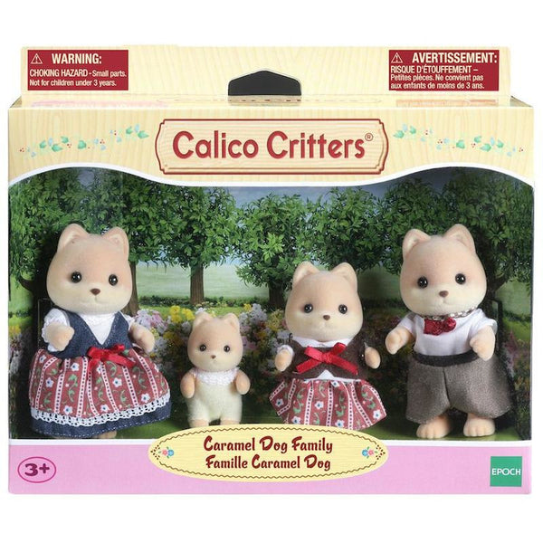 Calico Critters BL Caramel Dog Family