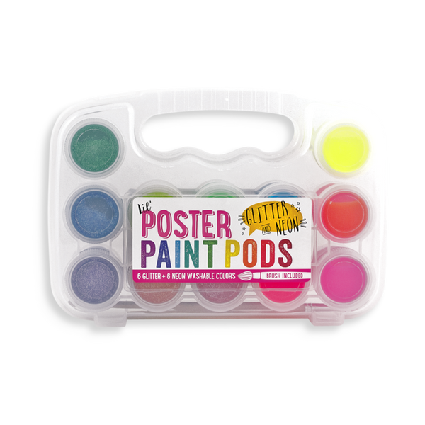 Ooly Lil' Poster Paint Pods - Glitter and Neon