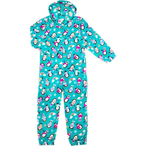 Candy Pink Fleece Onesie Penguin