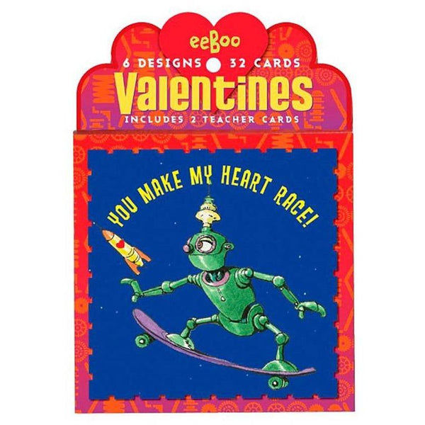 Eeboo Valentines Pack- Space Firends