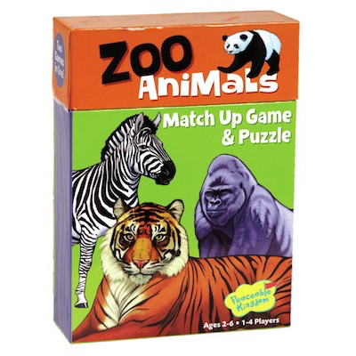 Zoo Animal Match Up Game