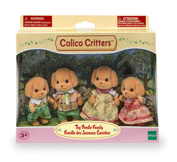 Calico Critters BL Toy Poodle Family