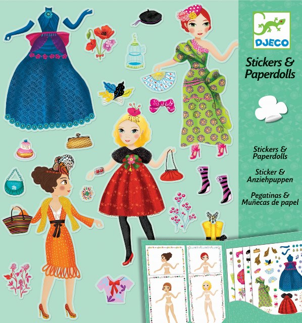 Djeco Arts and Crafts- Paper Dolls, Massive Fashion