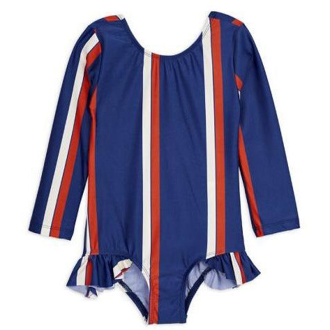 Mini Rodini Blue Stripe LS Swimsuit