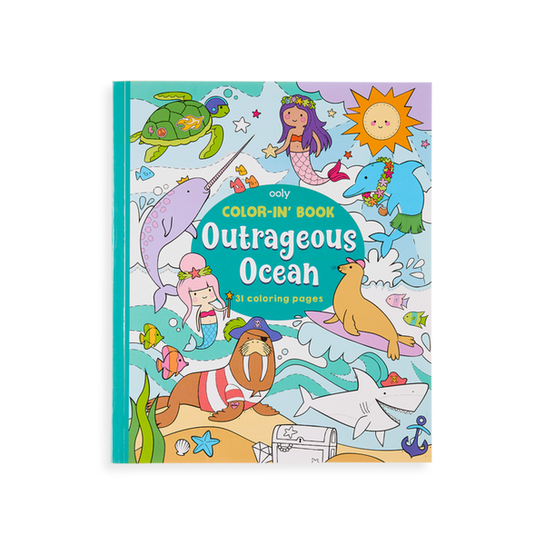 Color-in Book: Outrageous Ocean