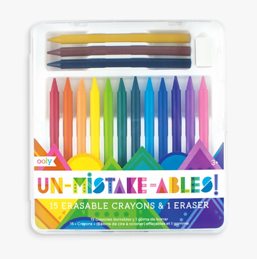 UnMistakeAbles 15 Erasable Crayons and Eraser