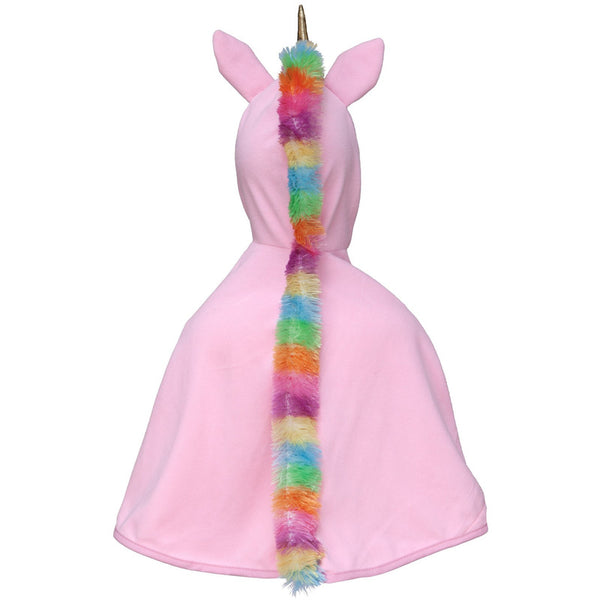 Baby Unicorn Cape- Pink/Gold, 12-24M