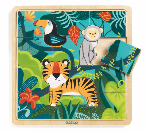 Djeco Wooden Puzzle- Puzzlo Jungle