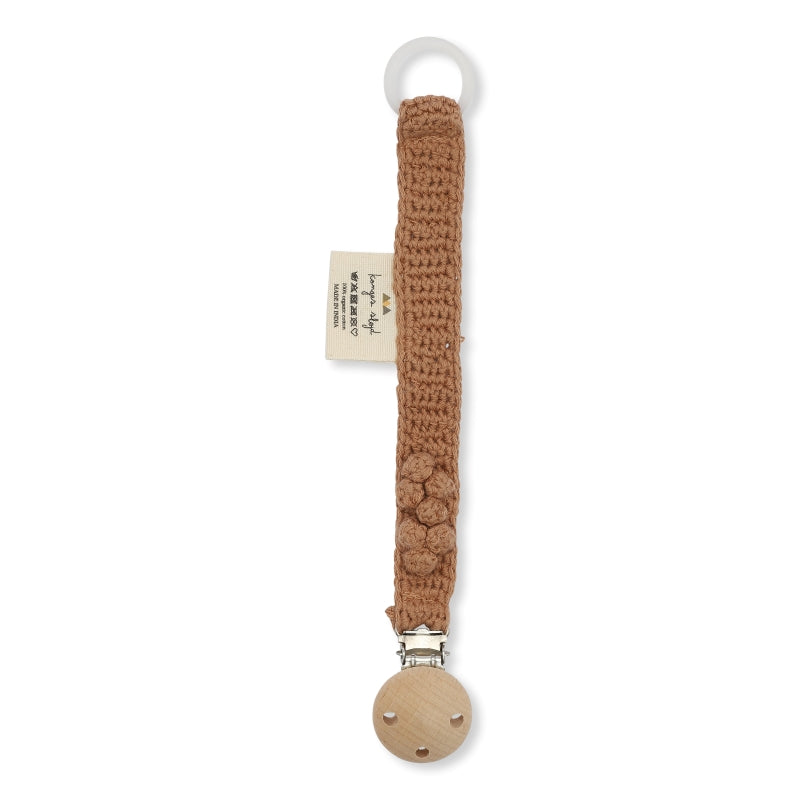Konges Sløjd Pacifier Strap Knit Cotton - Sahara