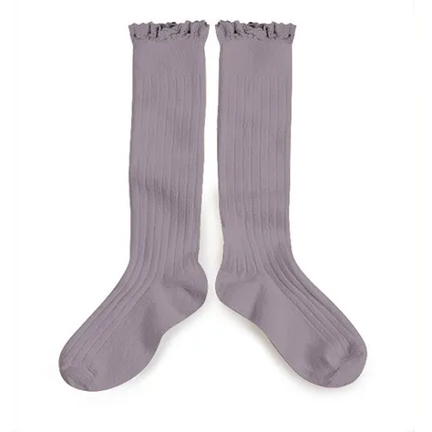 Collegien Long Socks With Lace