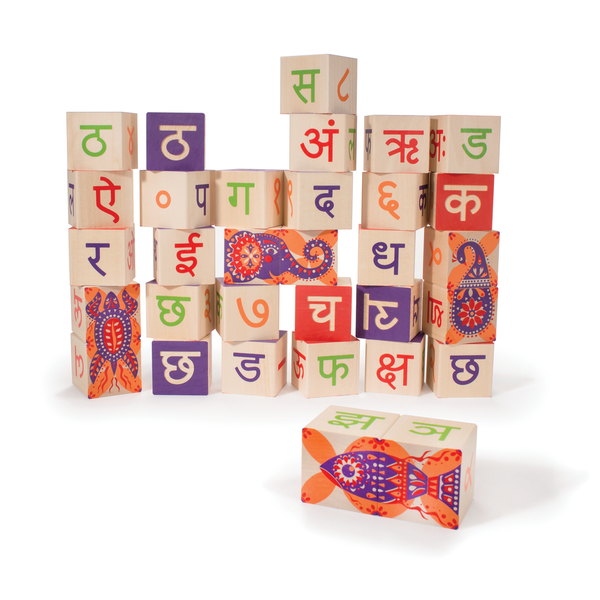 Uncle Goose Hindi ABC Blocks