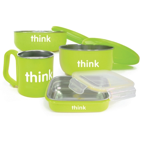 Think Baby The Complete BPA Free Feeding Set-Lt Green