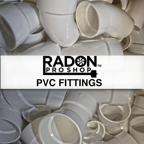 PVC Fittings For Radon Mitigation Systems