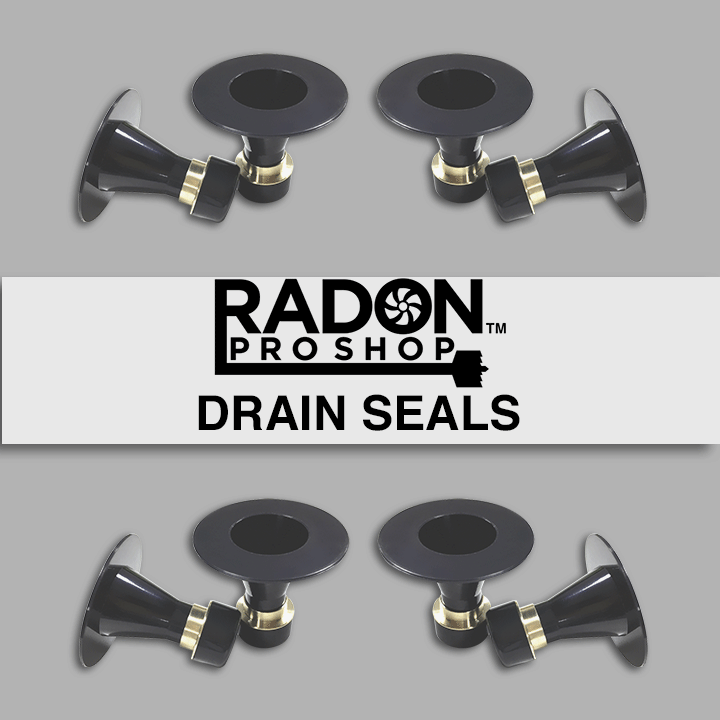 Drain Seals for Radon Mitigation