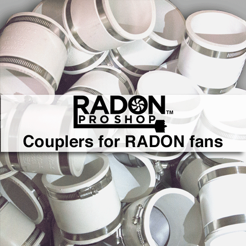 Couplers for radon fans