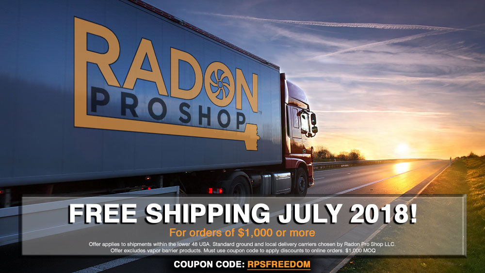 radon supplies free shipping 2018