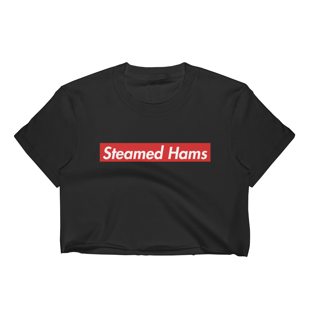 Steamed Hams Crop Top simpsons tshirt - SimpPrints