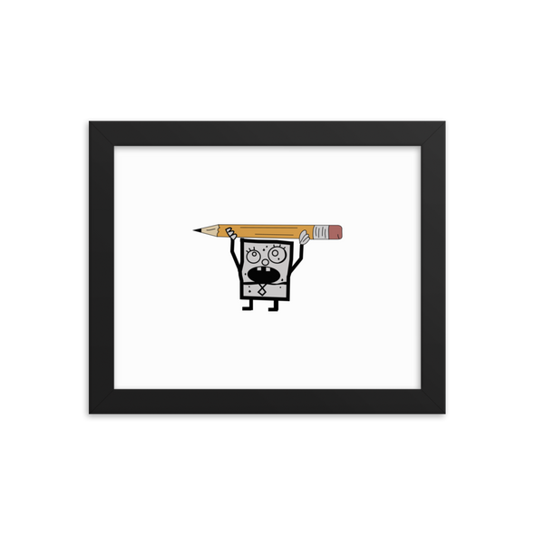 Doodlebob Framed Photo simpsons tshirt - SimpPrints