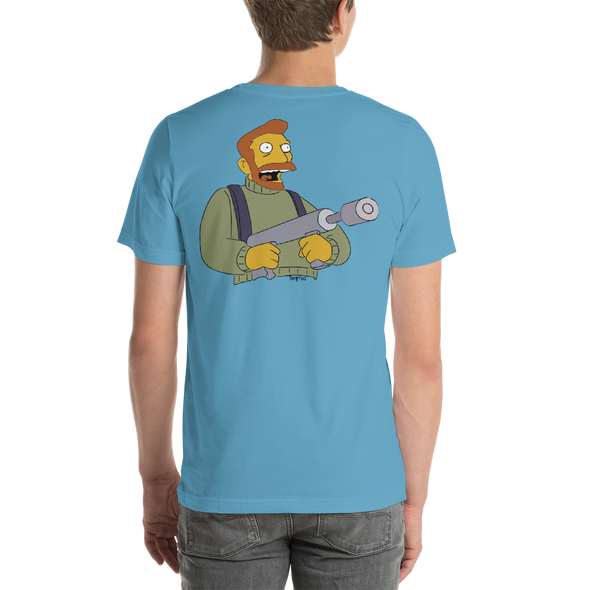 Backprint Hank Scorpio Tee simpsons tshirt - SimpPrints