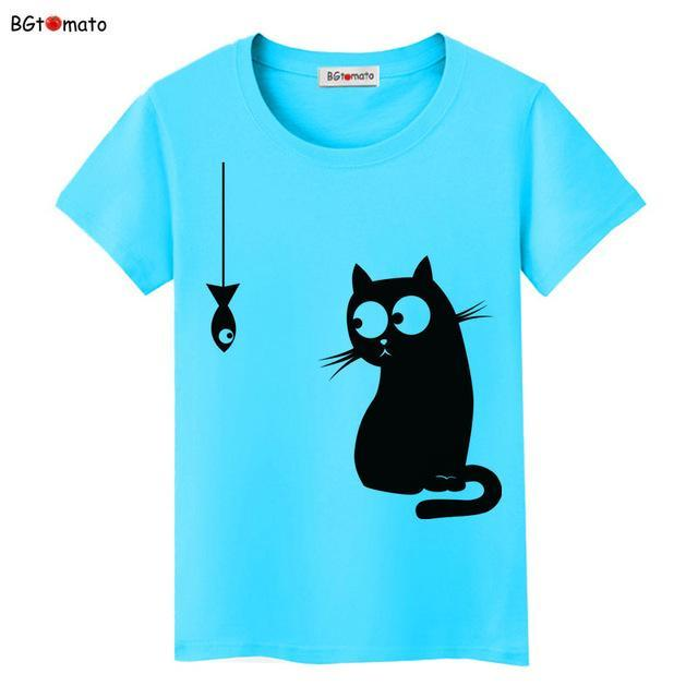 cutecatslovers 11 / S Black Cat Pink Love T-Shirt