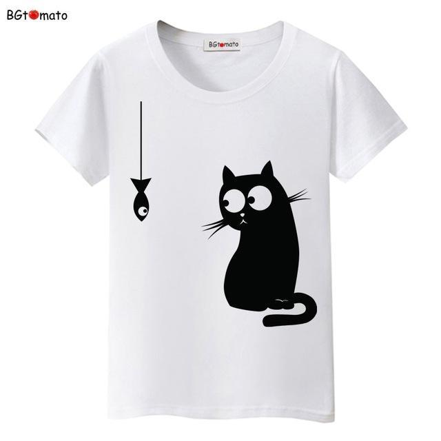 cutecatslovers 12 / S Black Cat Pink Love T-Shirt