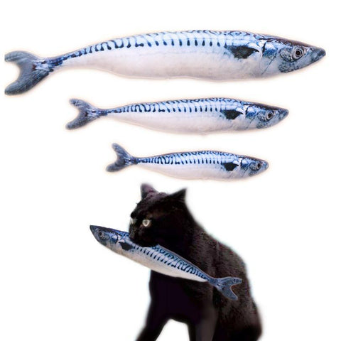cutecatslovers 20/30/40cm Cat Favor Fish Toy plush Stuffed