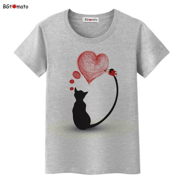 cutecatslovers 3 / S Black Cat Pink Love T-Shirt