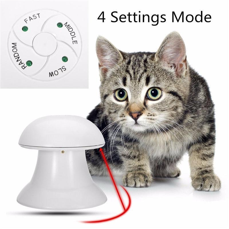 cutecatslovers 360 Degree Automatic Interactive Dart Laser Light Exercise Teaser for Cats