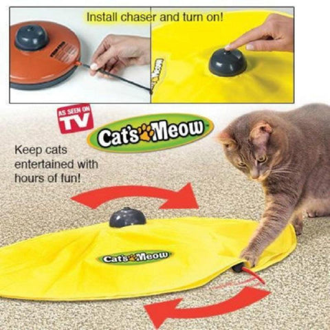 cutecatslovers 4 Speed Cat Toy Undercover Mouse Fabric Cat's Meow Interactive Electronic Toy