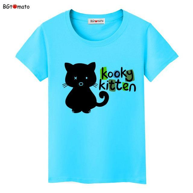 cutecatslovers 5 / S Black Cat Pink Love T-Shirt