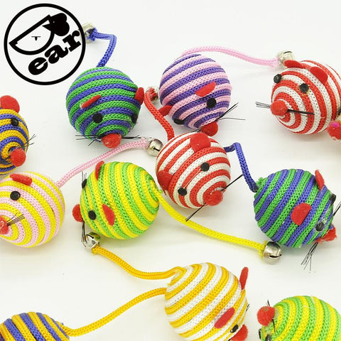 cutecatslovers 5pcs/lot Cats Bell Mouse Cat Toy