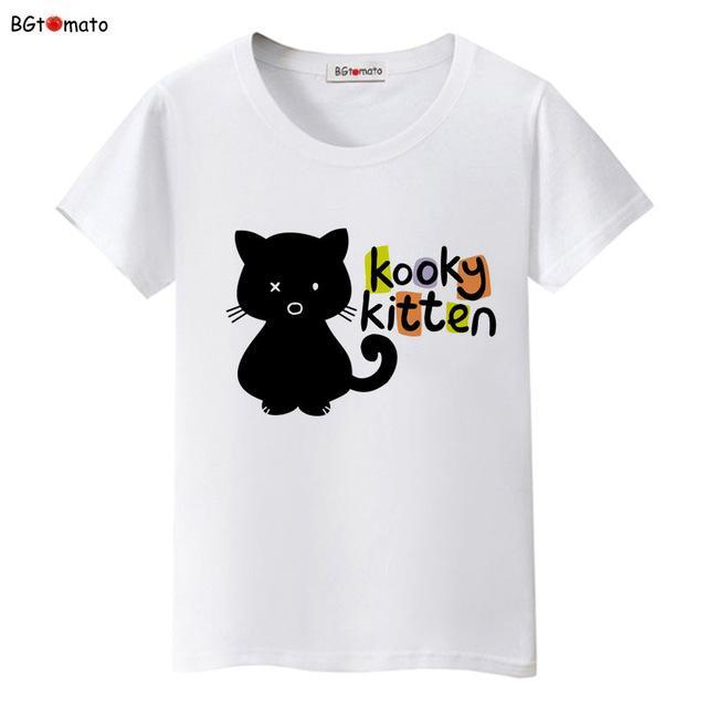 cutecatslovers 6 / S Black Cat Pink Love T-Shirt