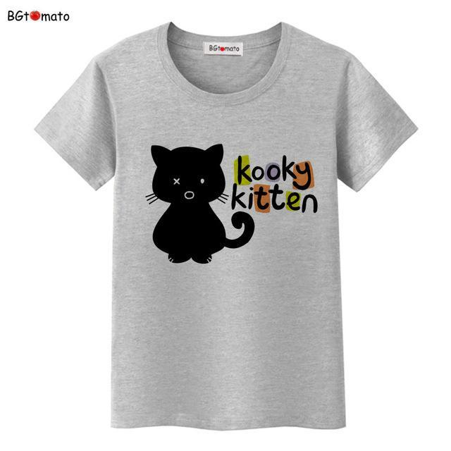 cutecatslovers 7 / S Black Cat Pink Love T-Shirt