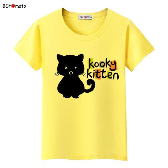 cutecatslovers 8 / S Black Cat Pink Love T-Shirt