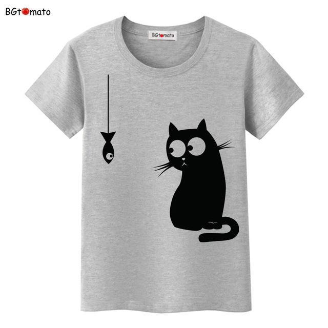 cutecatslovers 9 / S Black Cat Pink Love T-Shirt