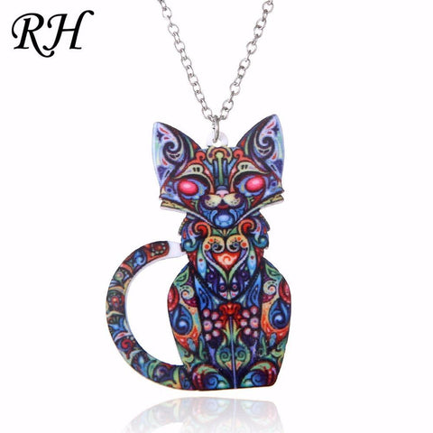cutecatslovers Acrylic Very Cute Unique Cat Necklace
