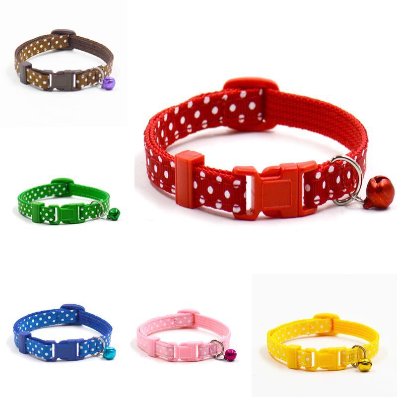 cutecatslovers Adjustable Dot Printed Cat Collar in Cute Colors