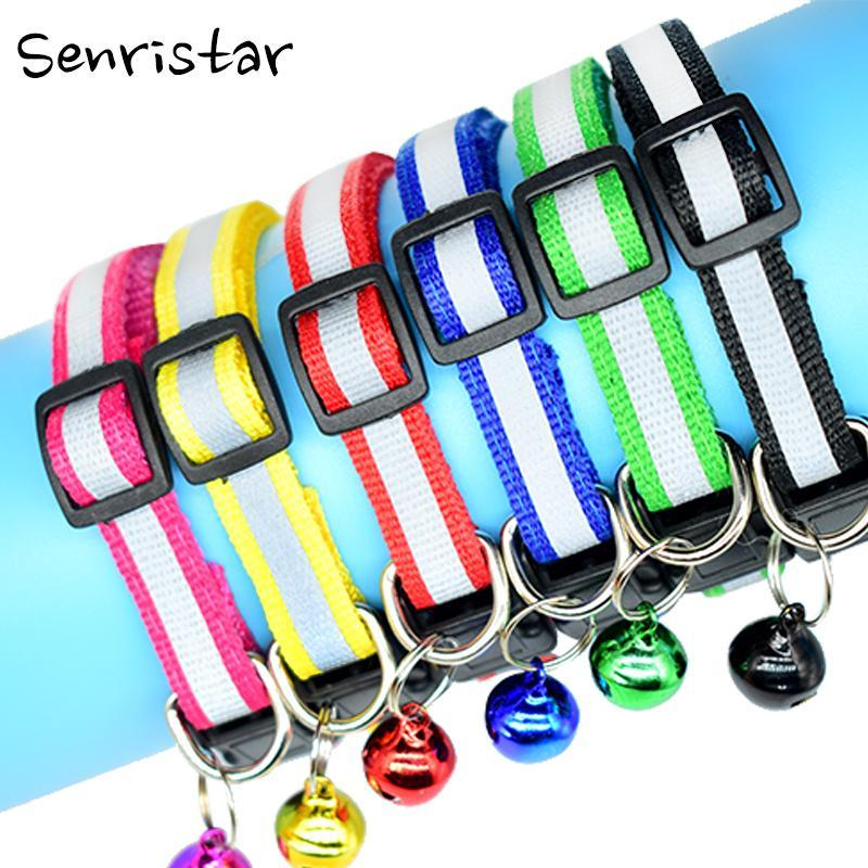 cutecatslovers Adjustable Safety Buckle Bell Strap Cat Collar in Multiple Colors