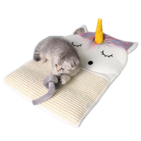 cutecatslovers Adorable Unicorn Cat Scratcher Bed Mat For Your Cat