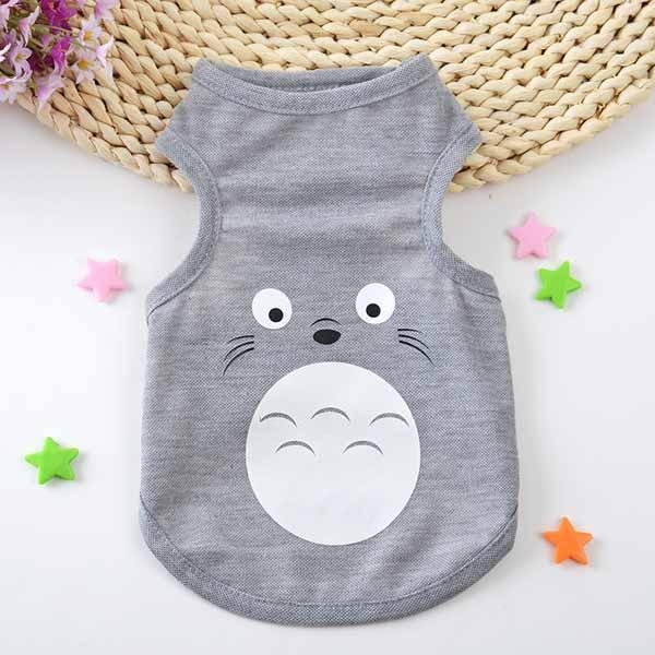 cutecatslovers as the picture show 3 / XS Fashion Cartoon Printed Cat Vest Breathable Mesh