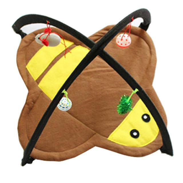 cutecatslovers bee / M Two in One - Cat Bed And Playground - The Best Place For your Cat to have a good time