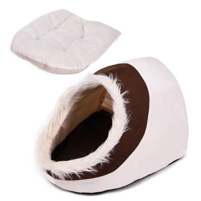 cutecatslovers Beige / M / China Warm Paw Style Cat Cave With Lovely Design - Your Cat Will Fall in Love