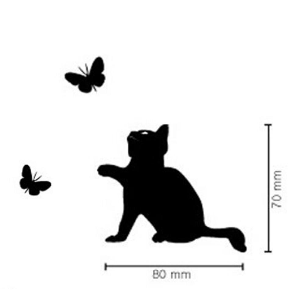 cutecatslovers Black Cats Chasing Butterflies Wall Decor
