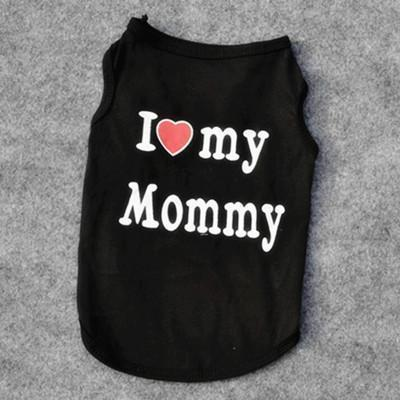 cutecatslovers black mommy / XS Great Motives Cat Clothes - VIP, I Love My Mommy / Daddy and a lot more