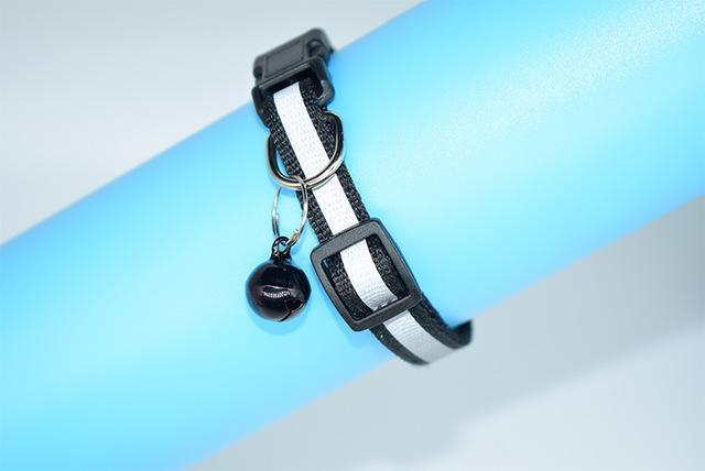 cutecatslovers Black / S Adjustable Safety Buckle Bell Strap Cat Collar in Multiple Colors