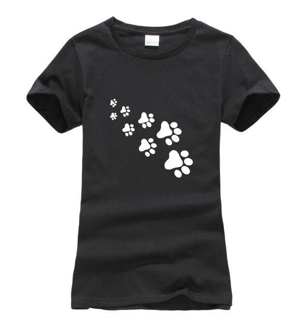 cutecatslovers Black / S Cat Paws Fashion T-Shirt