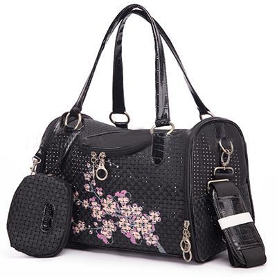 cutecatslovers Black / S Designer Flowers Carrier for Cats, Great for Traveling