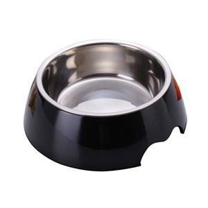 cutecatslovers Black / S Solid Melamine Plastic Stainless Steel Cat Feeding / Water Bowl