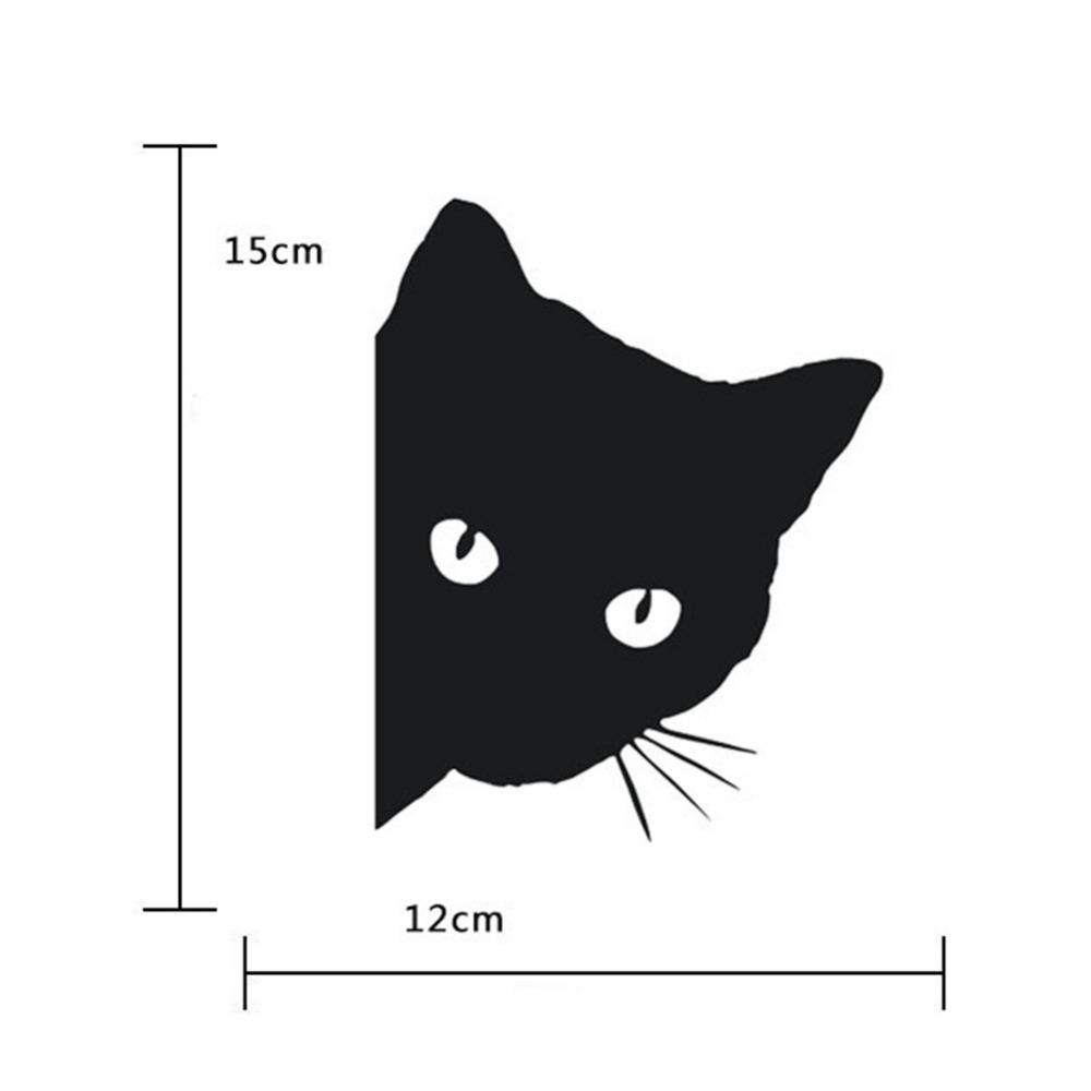 cutecatslovers Black/White Cat Car Sticker