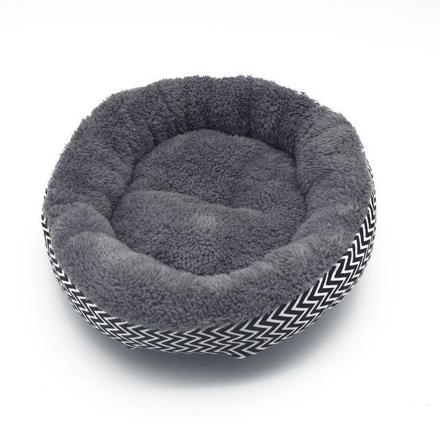 cutecatslovers Black White / L Fine joy Cat Bed Kennel, Very Soft Cushion for Your Cat